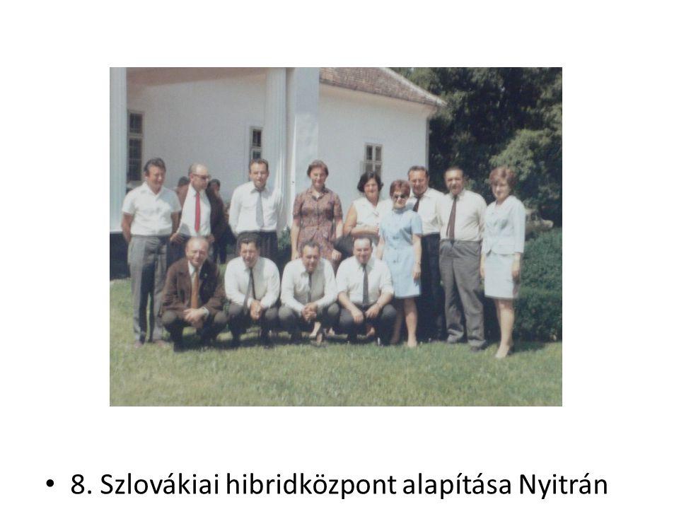 8. Szlovákiai hibridközpont alapítása Nyitrán
