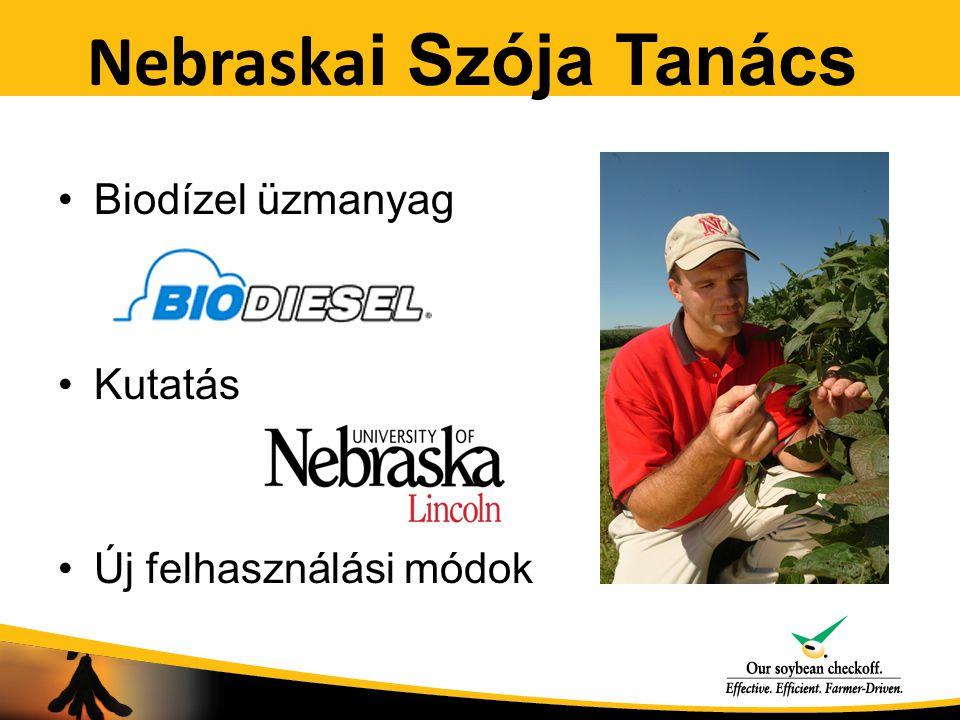Nebraska i Szója Tanács Biodízel üzmanyag Kutatás Új felhasználási módok