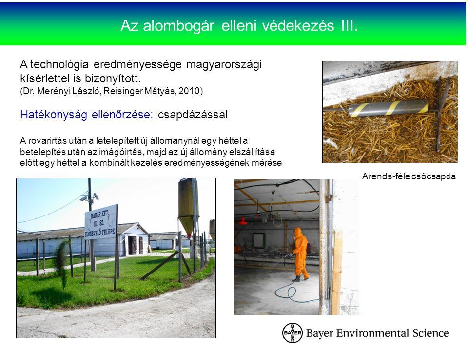 Az alombogár elleni védekezés III. A technológia eredményessége magyarországi kísérlettel is bizonyított. (Dr. Merényi László, Reisinger Mátyás, 2010)