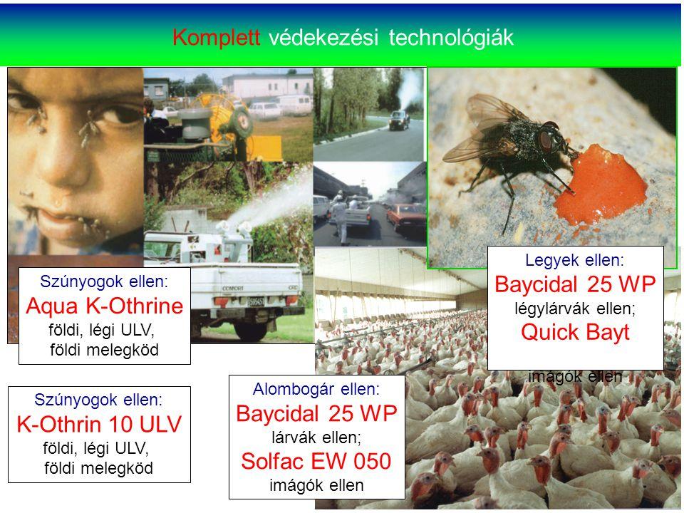 Szúnyogok ellen: Aqua K-Othrine földi, légi ULV, földi melegköd Szúnyogok ellen: K-Othrin 10 ULV földi, légi ULV, földi melegköd Komplett védekezési t