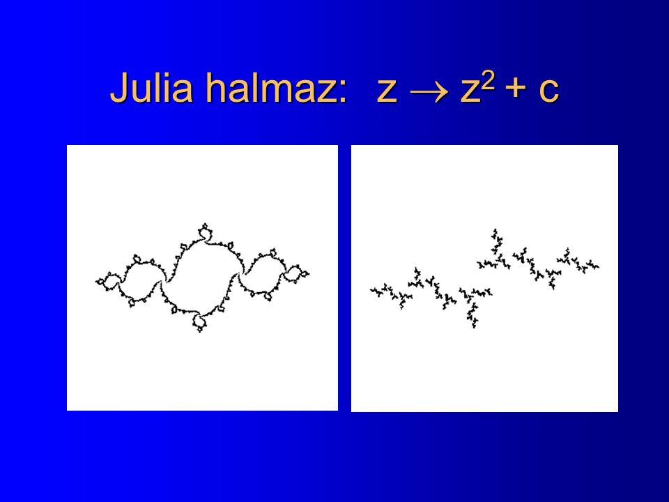 Julia halmaz: z  z 2 + c