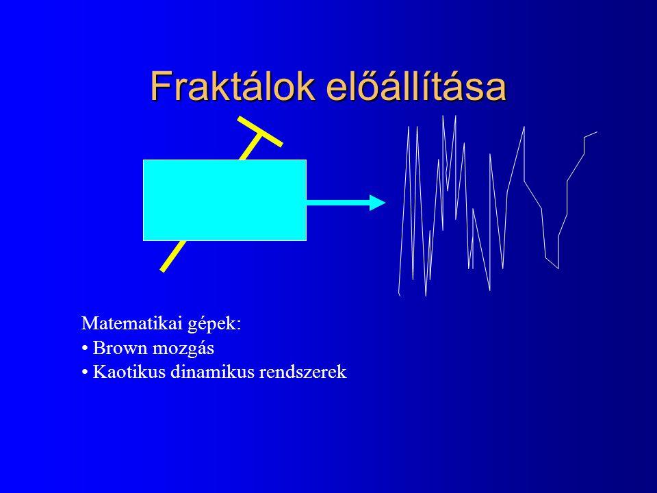 Brown mozgás - Wiener féle sztochasztikus folyamat l Sztochasztikus folyamat (véletlen függvény) l Trajektóriák folytonosak l Független növekményű folyamat l Növekmények 0 várható értékű normális eloszlás: –a független növekményűségből, a szórás az intervallum hosszával arányos