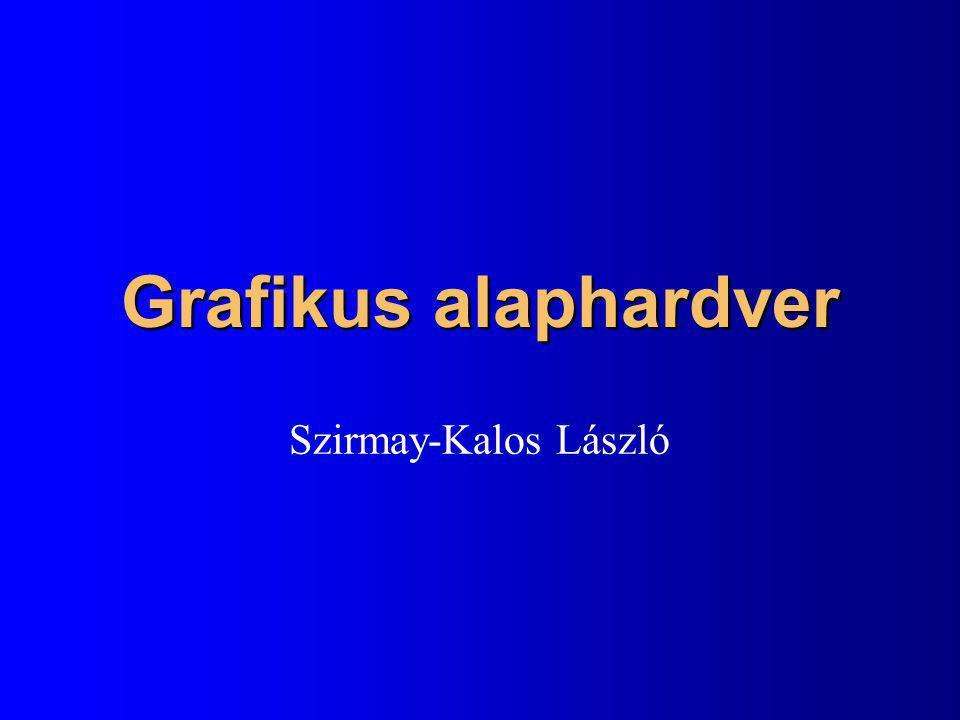 Grafikus alaphardver Szirmay-Kalos László
