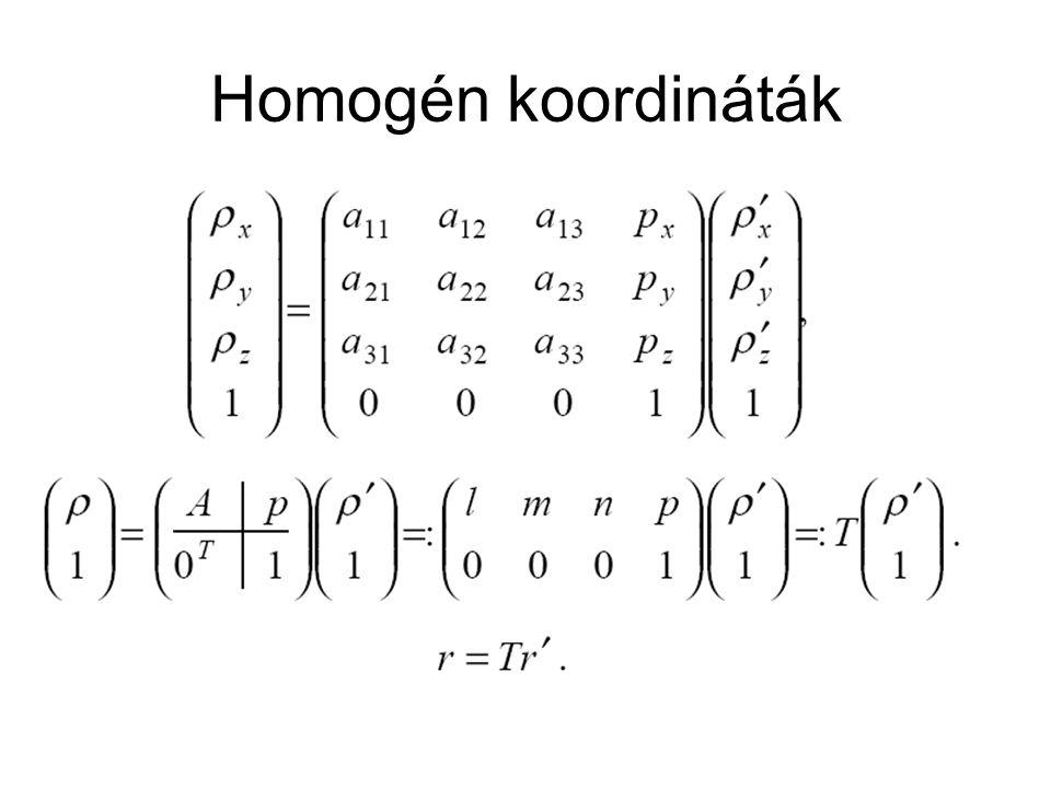 Homogén koordináták