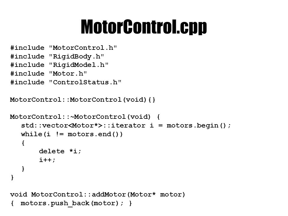 MotorControl.cpp #include