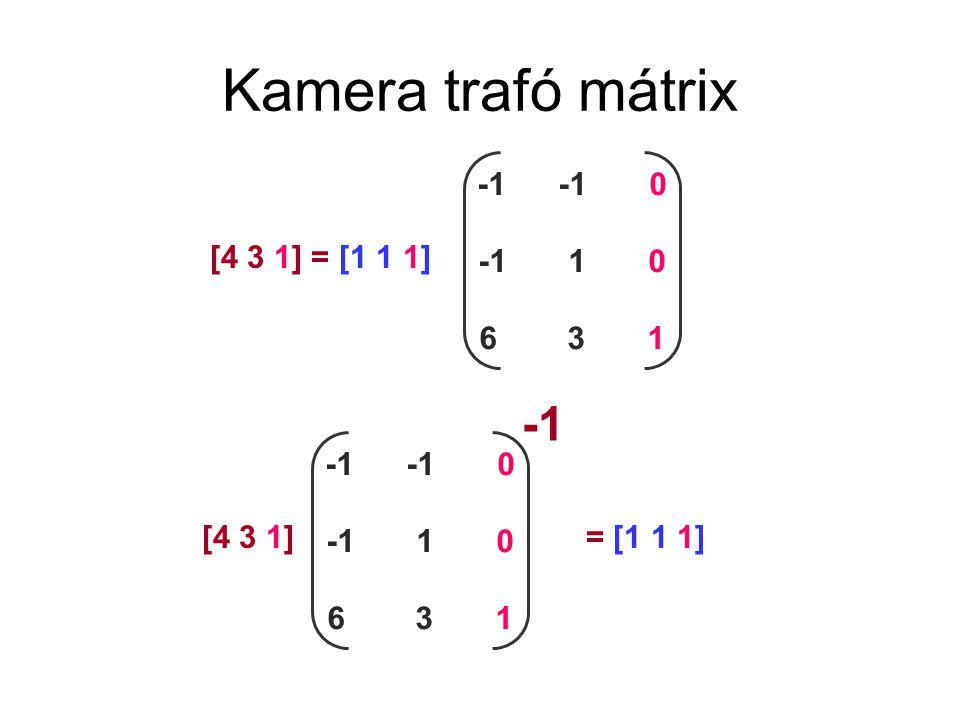 Képernyő koordináta rendszer O W origó WxWx WyWy ablak a virtuális világra JzJz JxJx xJxJ zJzJ hova vetül a képernyőn milyen messze (takaráshoz kell) 1