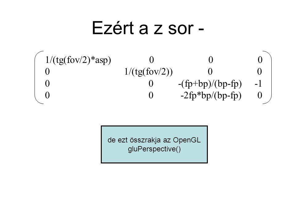 Miért jó, hogy minden számítás mátrix-szorzás.