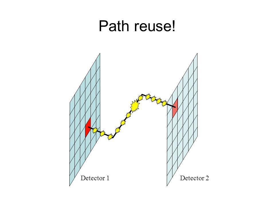 Path reuse! Detector 1Detector 2