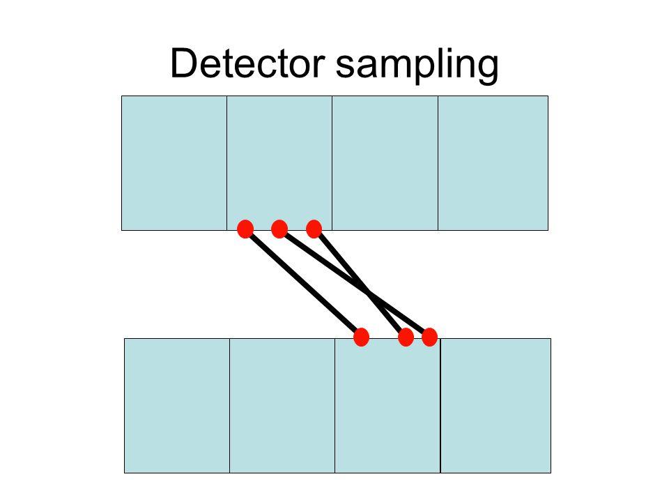 Detector sampling