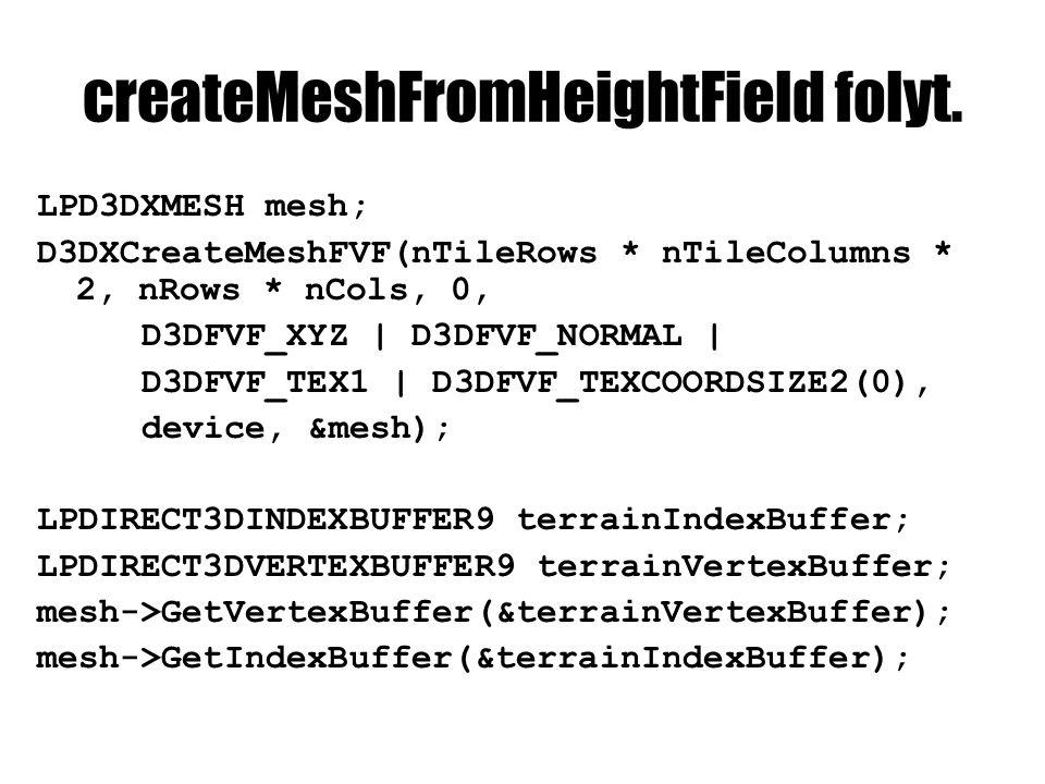 createMeshFromHeightField folyt.