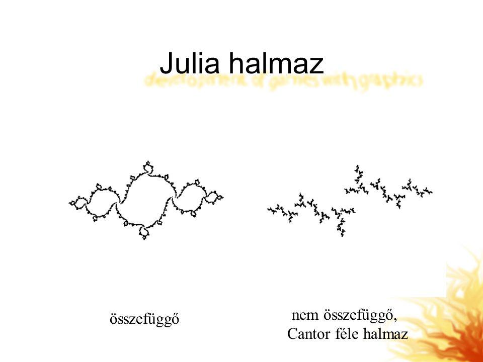 Julia halmaz összefüggő nem összefüggő, Cantor féle halmaz