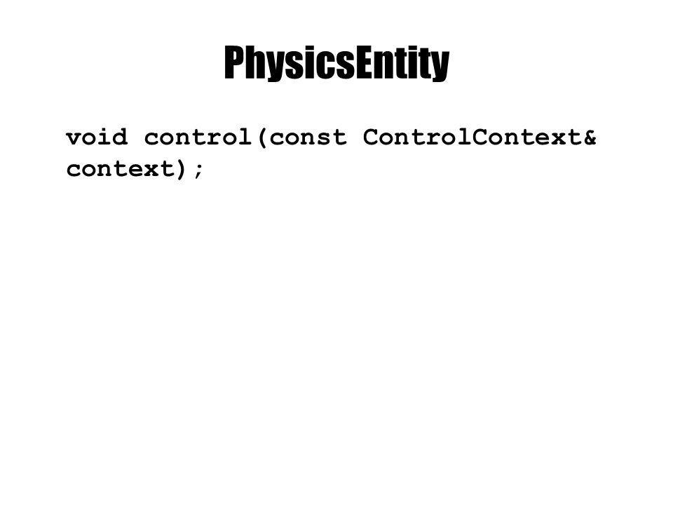 PhysicsEntity void control(const ControlContext& context);
