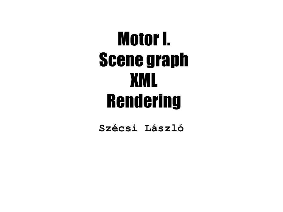 Motor I. Scene graph XML Rendering Szécsi László