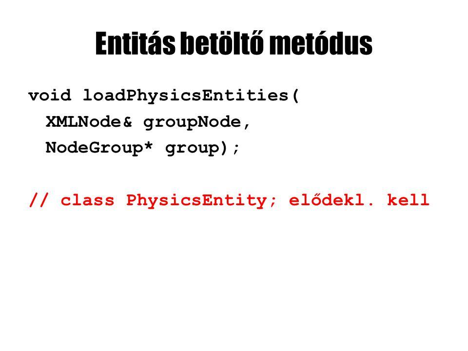 EngineCore-t hagyjuk félbe Majd később implementáljuk a metódusokat Előbb csináljuk meg az új osztályokat