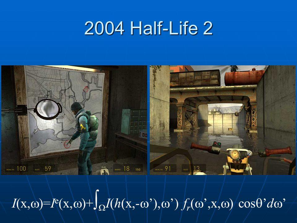2004 Half-Life 2 I(x,  )=I e (x,  )+   I(h(x,-  ' ,  ') f r (  ',x,  ) cos  'd  '