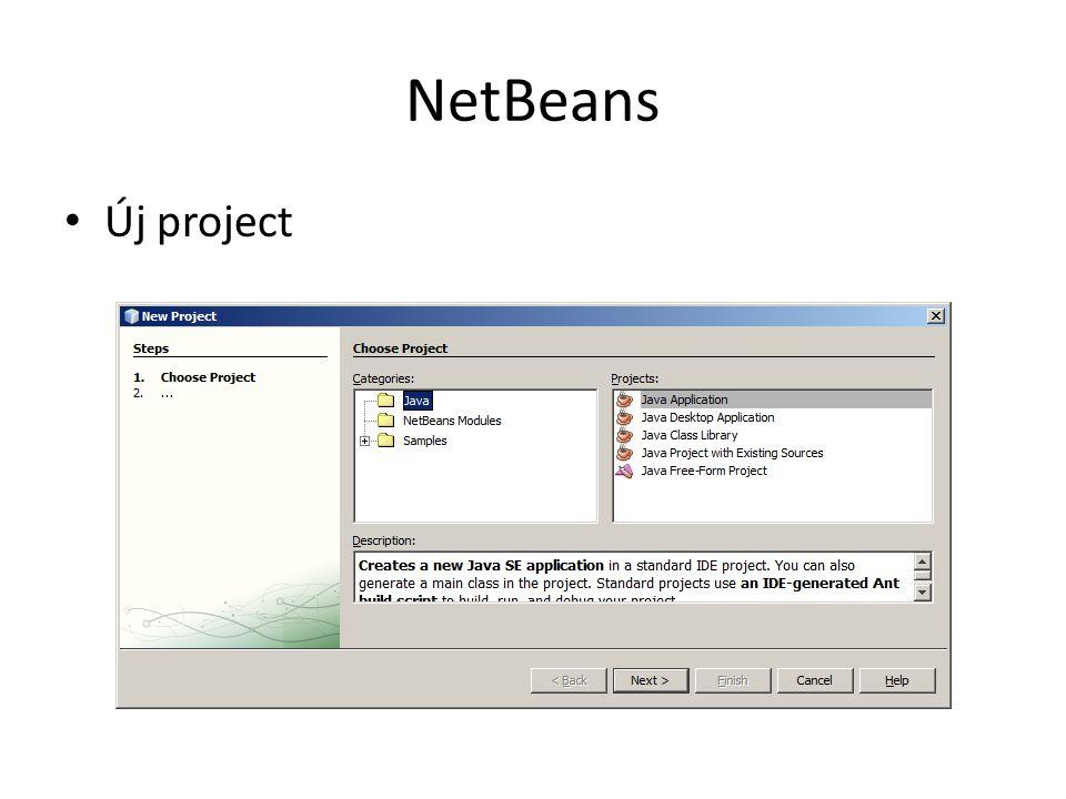 NetBeans Új project