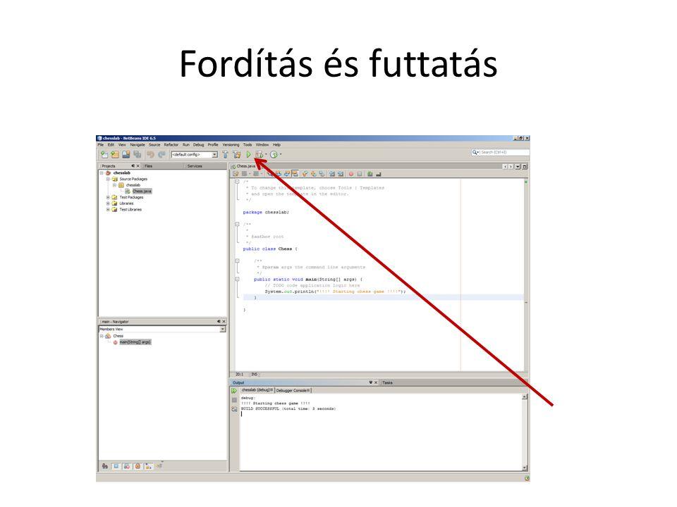 Hasznos NetBeans IDE trükkök crtl+space: kódkiegészítés (listából kiválasztjuk és enter).