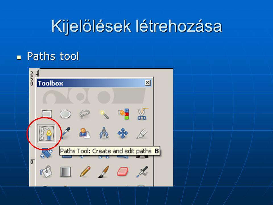 Path tool Ha kész : ENTER