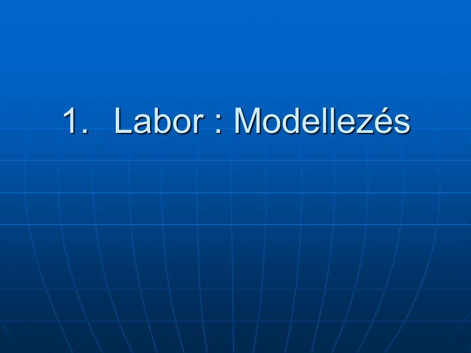 1.Labor : Modellezés