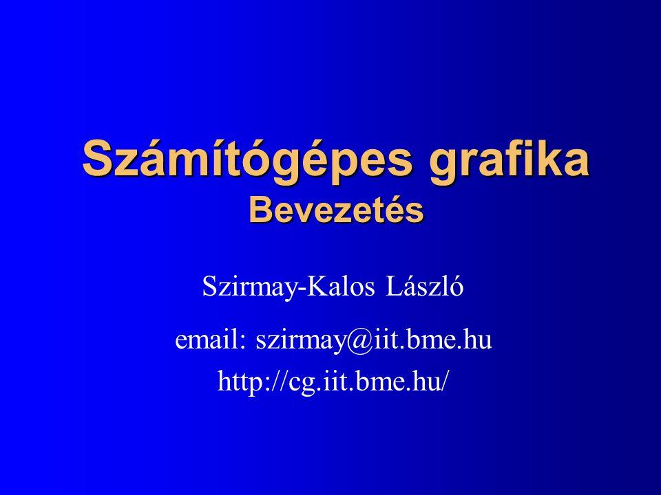Számítógépes grafika Bevezetés Szirmay-Kalos László email: szirmay@iit.bme.hu http://cg.iit.bme.hu/
