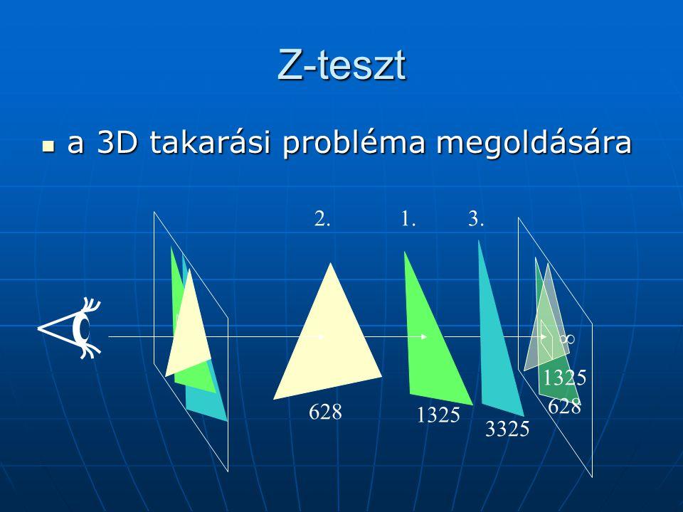Z-teszt a 3D takarási probléma megoldására a 3D takarási probléma megoldására  1325 628 1325 628 3325 1.2.3.