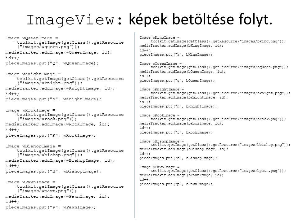 ImageView: képek betöltése folyt.