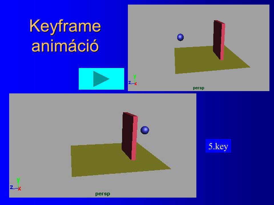 1. key Keyframe animáció 2.key3.key4.key5.key