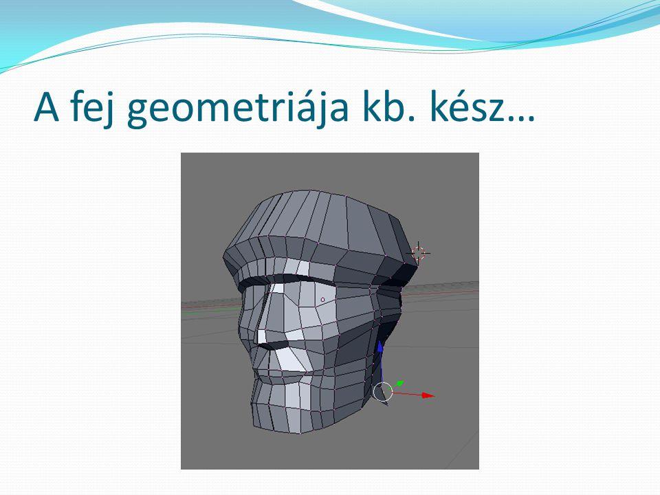 A fej geometriája kb. kész…