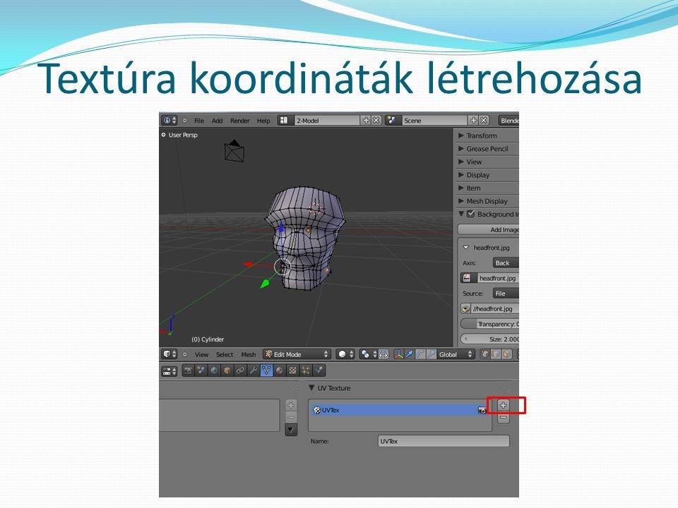 Textúra koordináták létrehozása