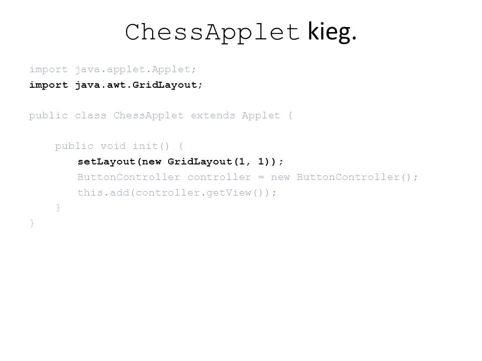 ChessApplet kieg.