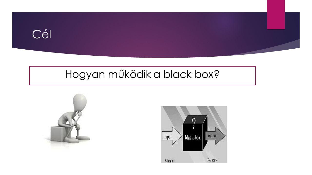 Cél Hogyan működik a black box?