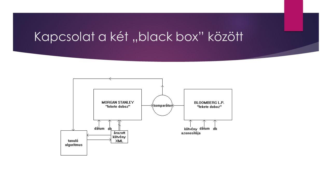 """Kapcsolat a két """"black box"""" között"""