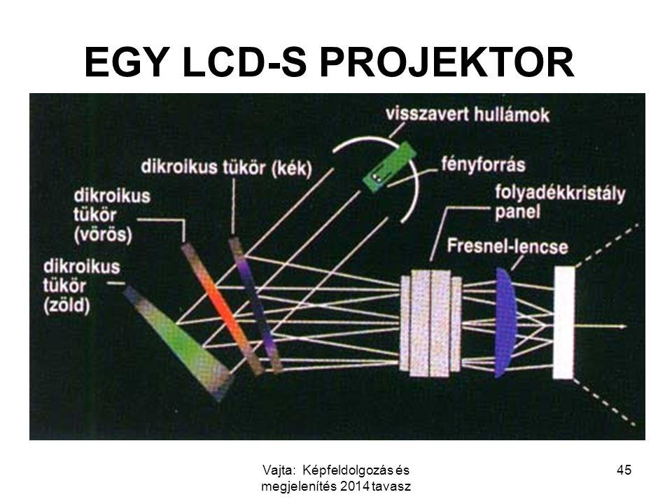 Vajta: Képfeldolgozás és megjelenítés 2014 tavasz 45 EGY LCD-S PROJEKTOR