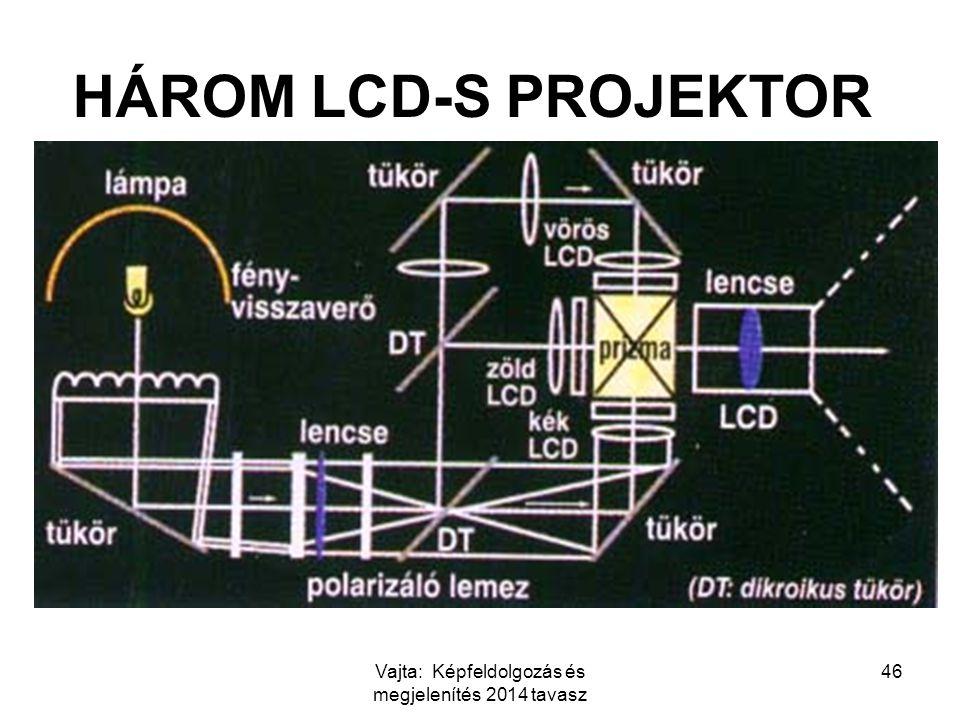 Vajta: Képfeldolgozás és megjelenítés 2014 tavasz 46 HÁROM LCD-S PROJEKTOR