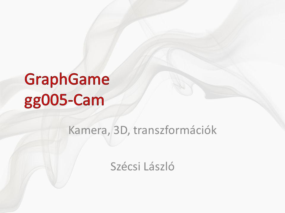 Kamera, 3D, transzformációk Szécsi László