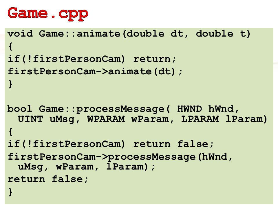 using namespace Egg::Math; effect-> GetVariableByName( modelMatrix )-> AsMatrix()->SetMatrix( (float*)&float4x4::identity ); effect-> GetVariableByName( modelMatrixInverse ) ->AsMatrix()->SetMatrix( (float*)&float4x4::identity ); float4x4 viewProjMatrix = firstPersonCam->getViewMatrix() * firstPersonCam->getProjMatrix(); effect->GetVariableByName( modelViewProjMatrix ) ->AsMatrix()-> SetMatrix( (float*)&viewProjMatrix ); #6.1