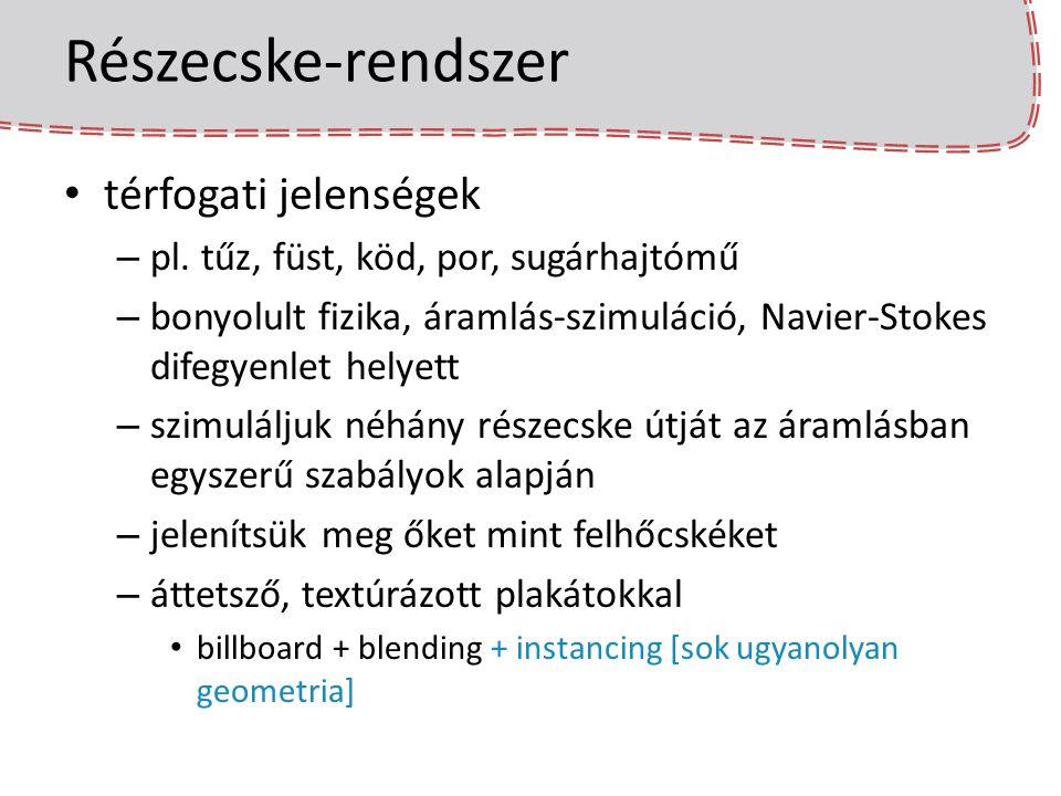 Részecske-rendszer térfogati jelenségek – pl.