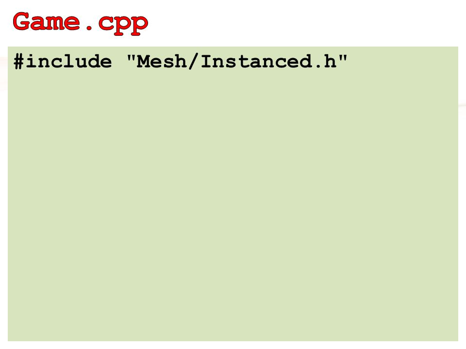 index buffer + vertex bufferek + instance bufferek + elemleírás konstruktor összebuherálja az egyes bufferekhez kapott elemleírásokat draw metódus context->IASetIndexBuffer(indexBuffer, indexFormat, 0); context->IASetVertexBuffers(0, nVertexBuffers, vertexBuffers, vertexStrides, zeros); context->DrawIndexedInstanced(nIndices, nInstances, 0, 0, 0);