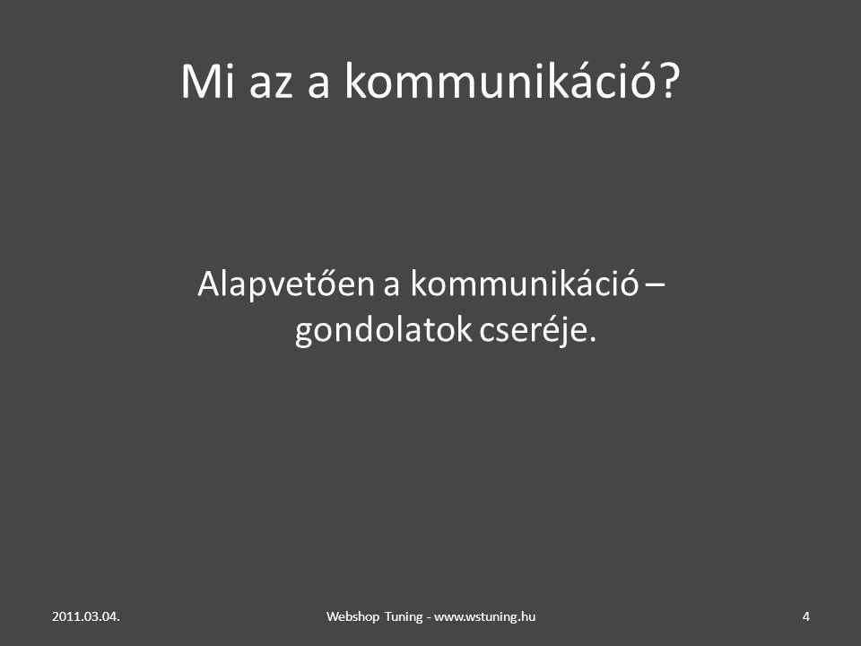 Mi az a kommunikáció.Alapvetően a kommunikáció – gondolatok cseréje.
