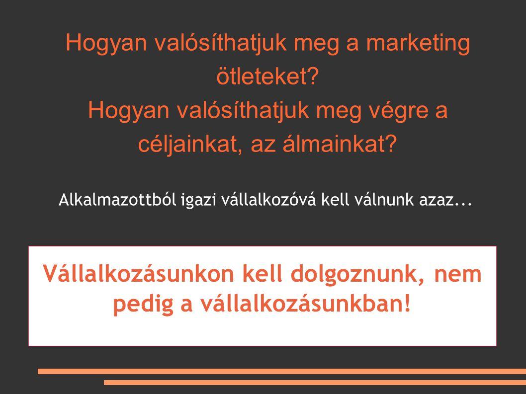 Hogyan valósíthatjuk meg a marketing ötleteket.