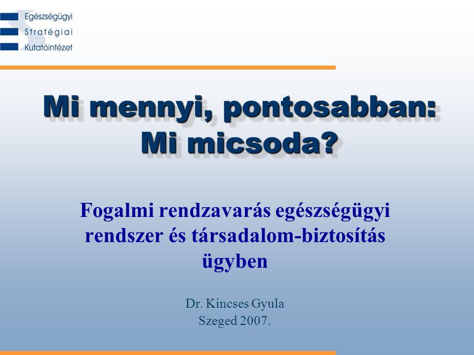 2/26 Az egészségbiztosítás vitája Az egészségbiztosítás átalakítása a magyar társadalom átalakításának alapvető vitája, mert –ez a fenntartható fejlődés feltétele, –valójában a köz– és magán-felelősség határainak egész társadalomra kiterjedő újrarajzolása a tét.