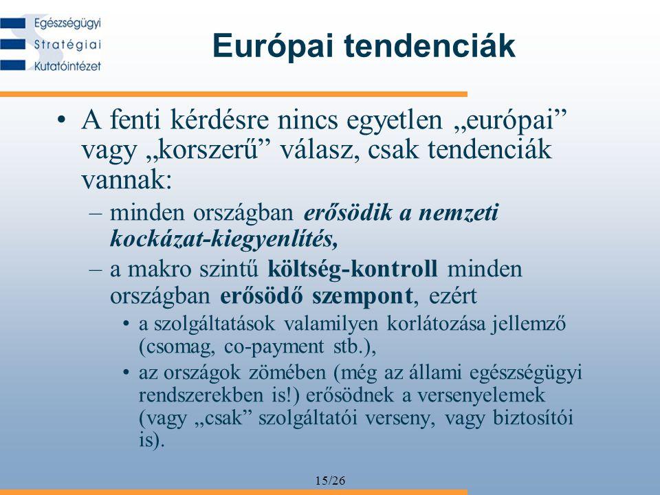 """15/26 Európai tendenciák A fenti kérdésre nincs egyetlen """"európai"""" vagy """"korszerű"""" válasz, csak tendenciák vannak: –minden országban erősödik a nemzet"""