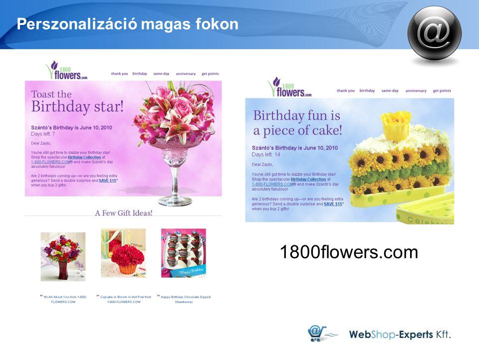 Perszonalizáció magas fokon 1800flowers.com