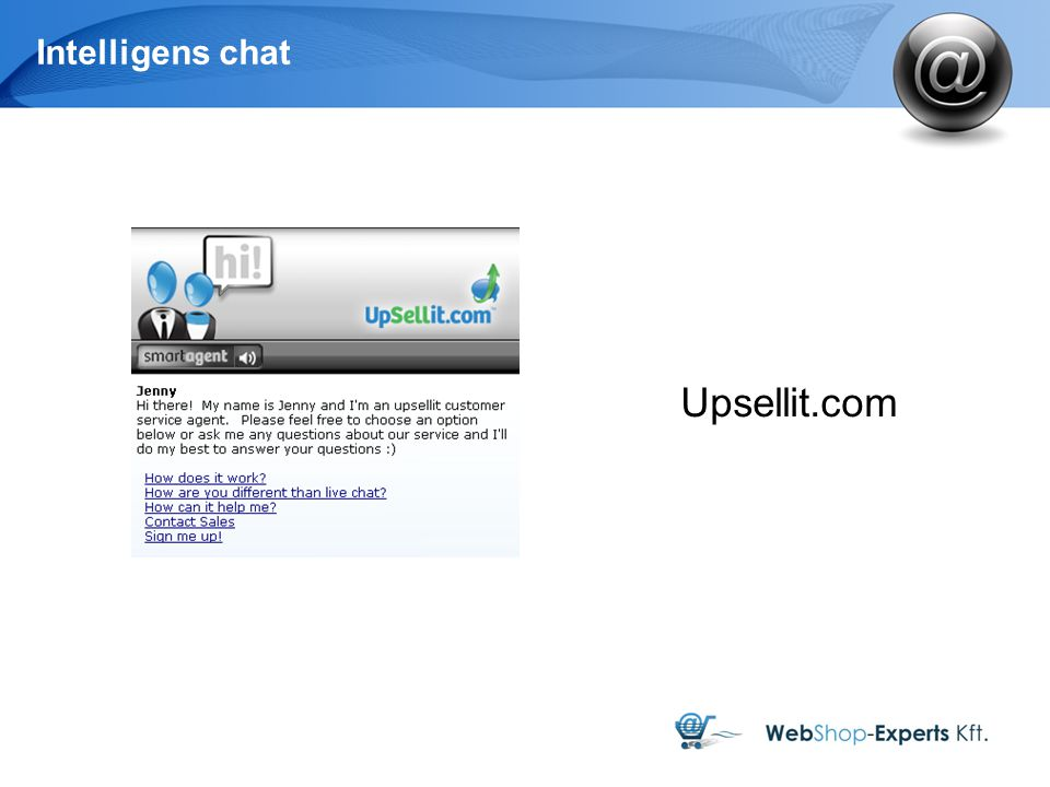 Intelligens chat Upsellit.com