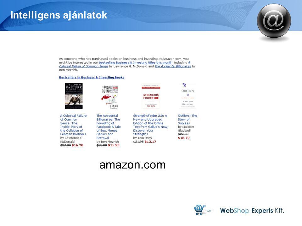 Intelligens ajánlatok amazon.com