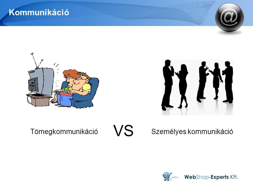 Kommunikáció Tömegkommunikáció Személyes kommunikáció VS