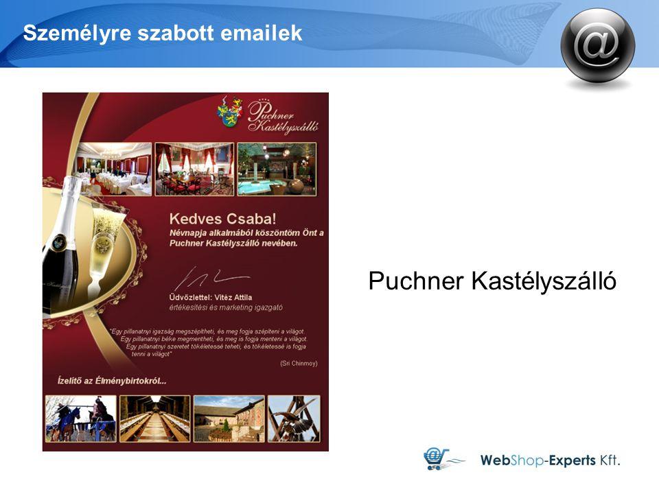 Személyre szabott emailek Puchner Kastélyszálló