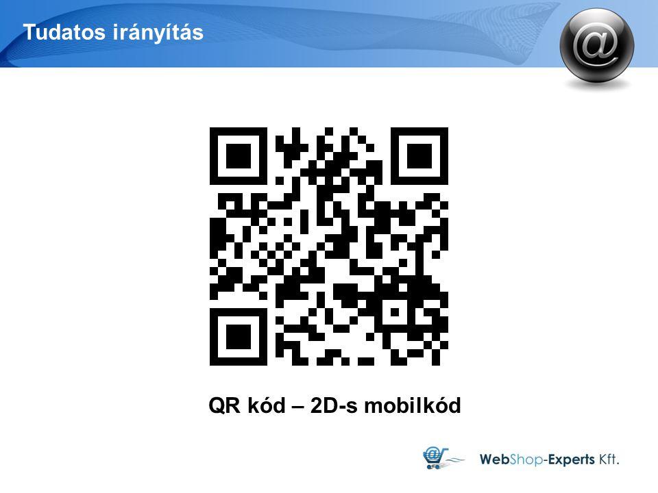 Tudatos irányítás QR kód – 2D-s mobilkód