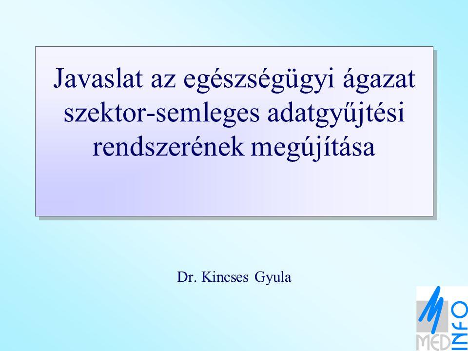 Javaslat az egészségügyi ágazat szektor-semleges adatgyűjtési rendszerének megújítása Dr.