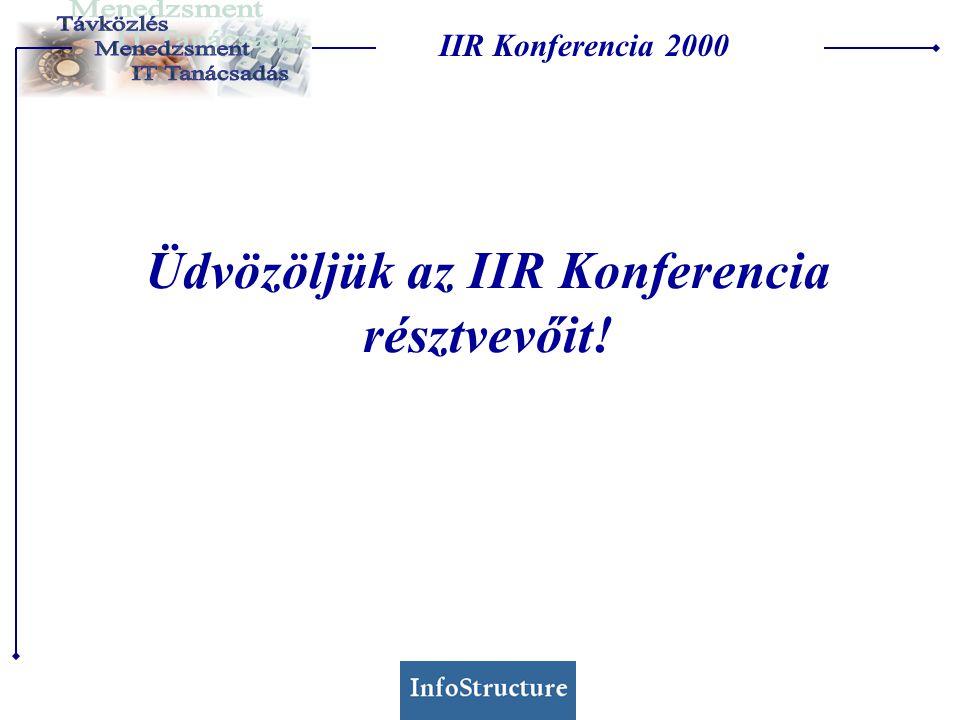 Üdvözöljük az IIR Konferencia résztvevőit! IIR Konferencia 2000
